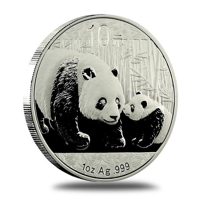 2011 China Silver Panda BU 1 oz Coin Reverse