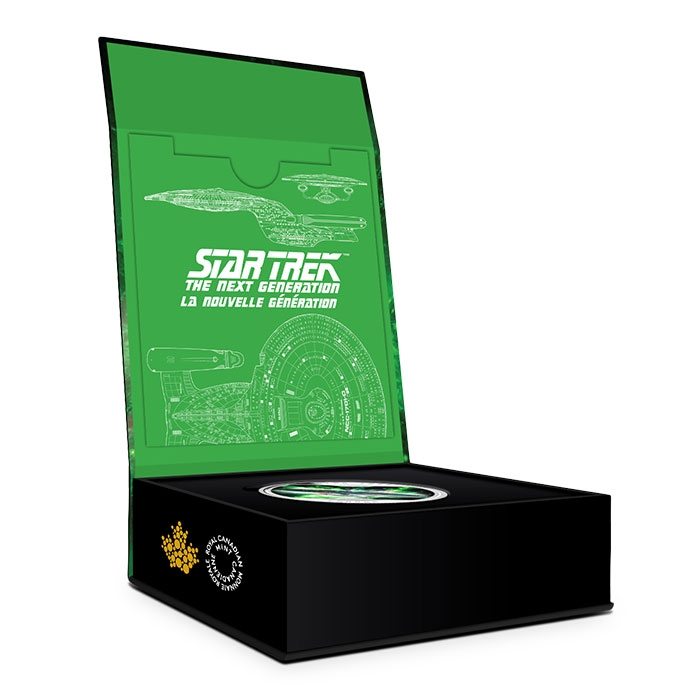 Open Packaging for Star Trek Enterprise Silver Coin