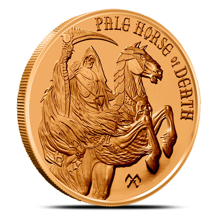 Pale Horse of Death Copper Round