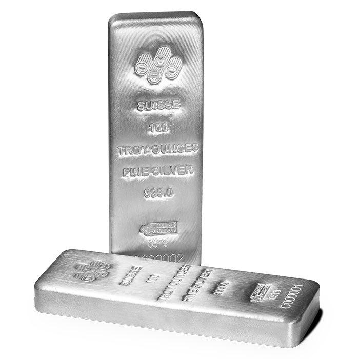 100 oz Pamp Silver Bars