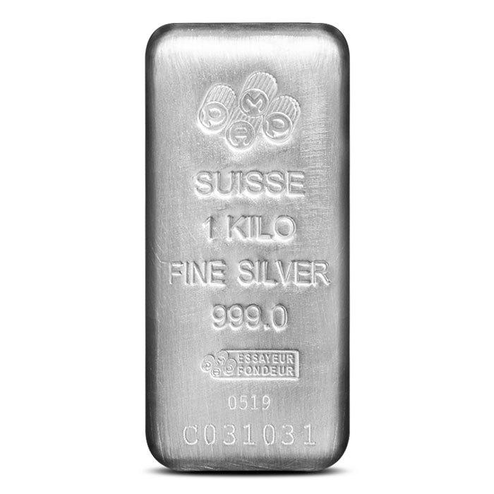 Pamp Suisse Kilo Silver Bar Front