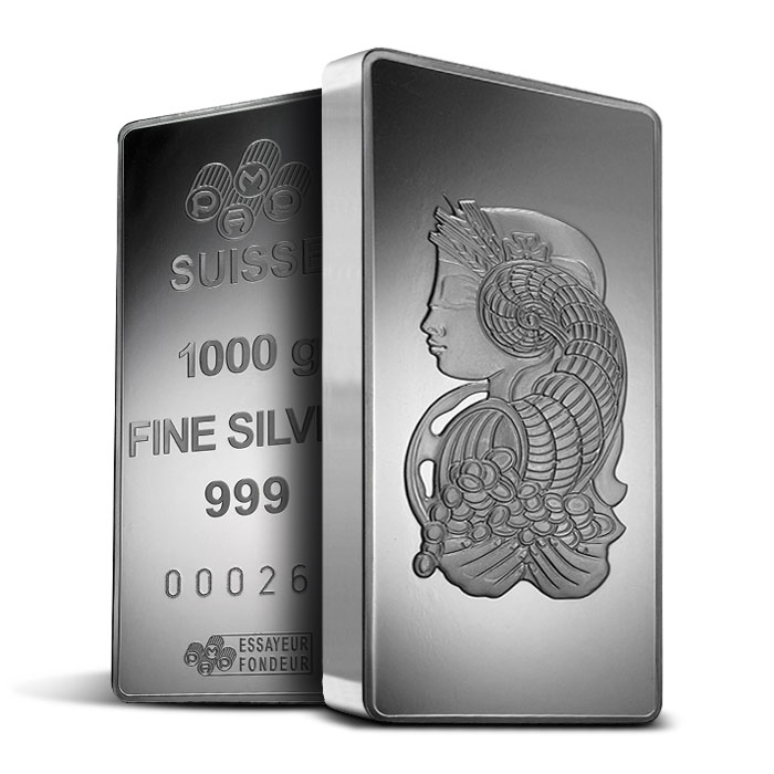 PAMP Suisse 1 kilo Silver Fortuna Bar