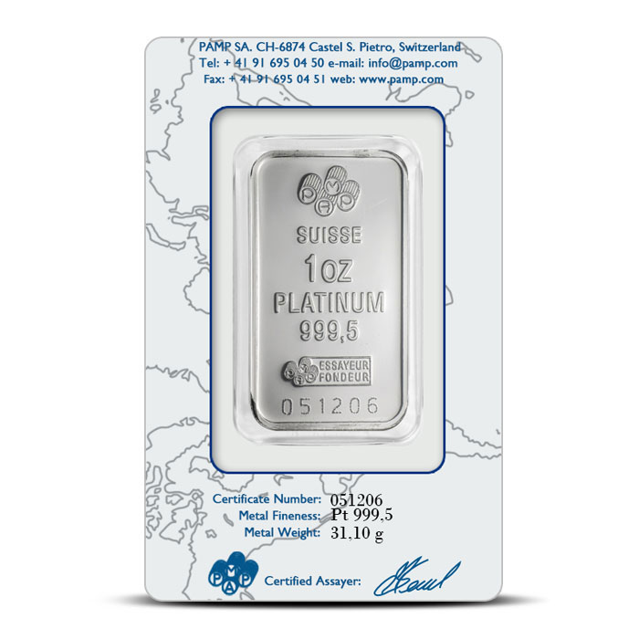 PAMP Fortuna Platinum Bar