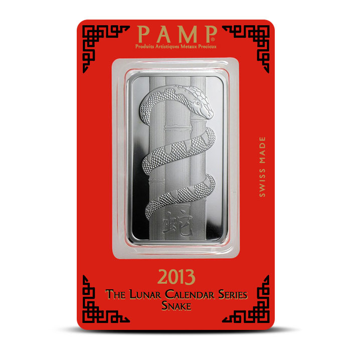 PAMP Suisse Silver Lunar Snake Bar | 1 ounce