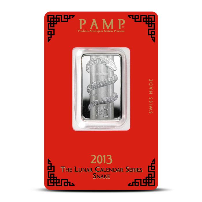 PAMP Suisse Silver Lunar Snake Bar   10 gram