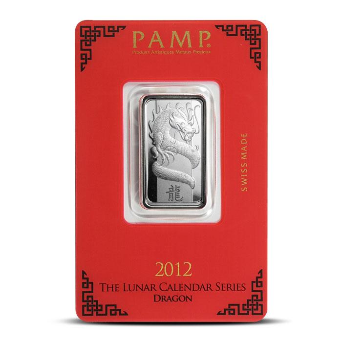 PAMP Suisse Silver Lunar Dragon Bar | 10 gram