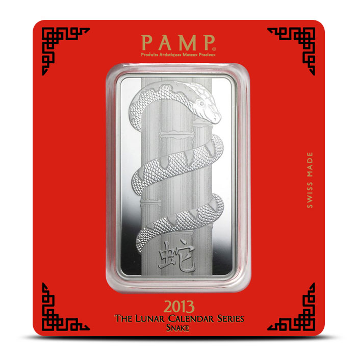 PAMP Suisse Silver Lunar Snake Bar | 100 gram