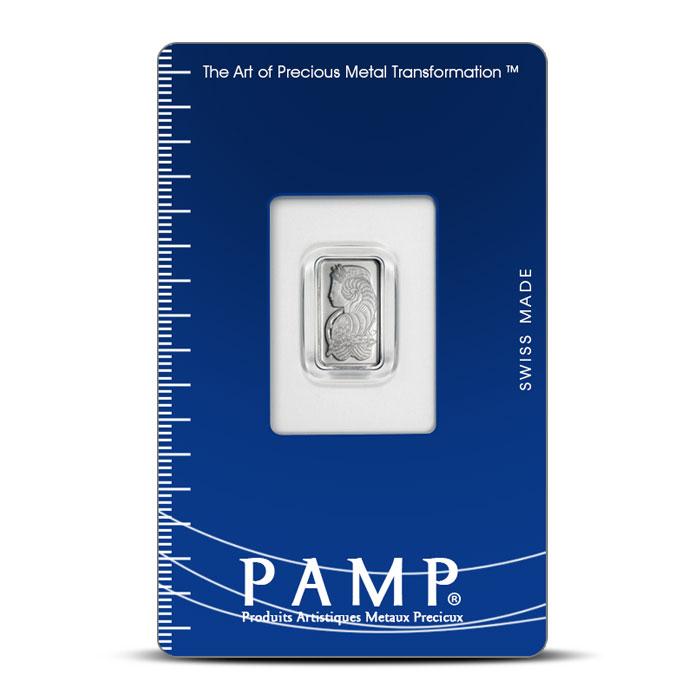 1 gram Platinum Fortuna Bar   PAMP Suisse