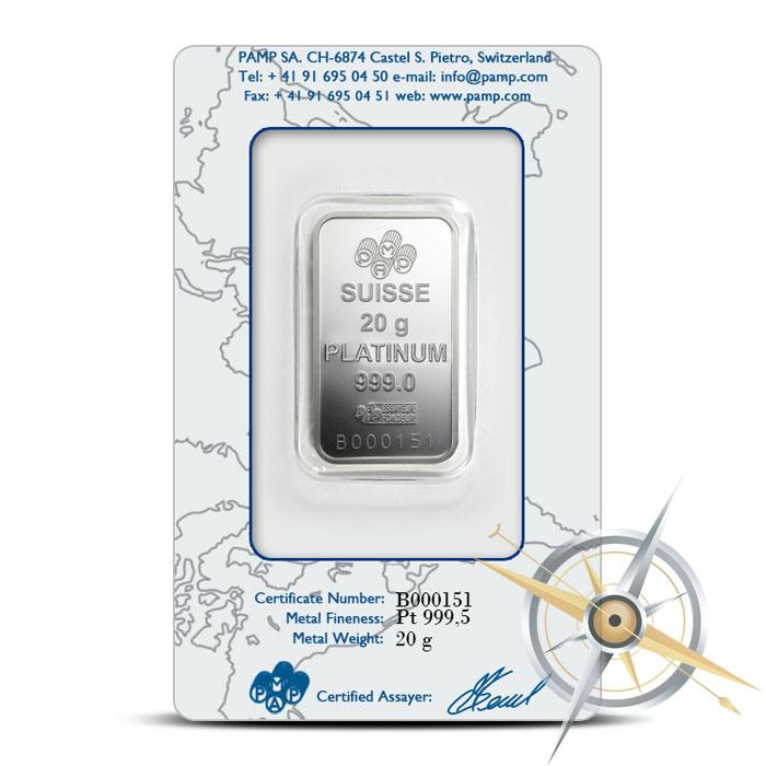 PAMP Suisse 20 gram Fortuna Silver Bar Reverse .9995 Fine
