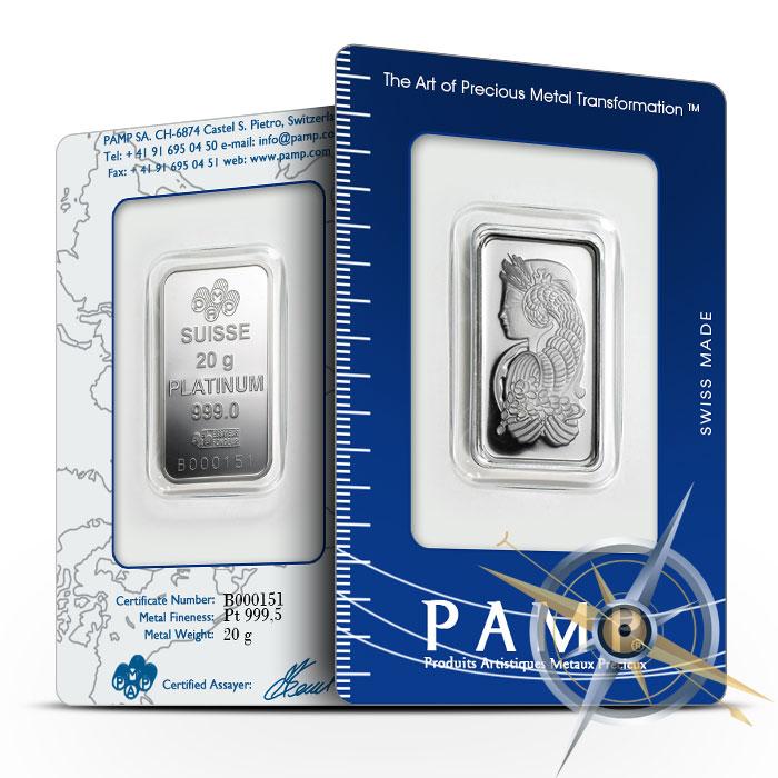 PAMP Suisse 20 gram Fortuna Silver Bars .9995 Fine