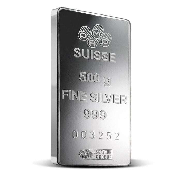 PAMP Suisse 500 gram Silver Fortuna Bar-16055