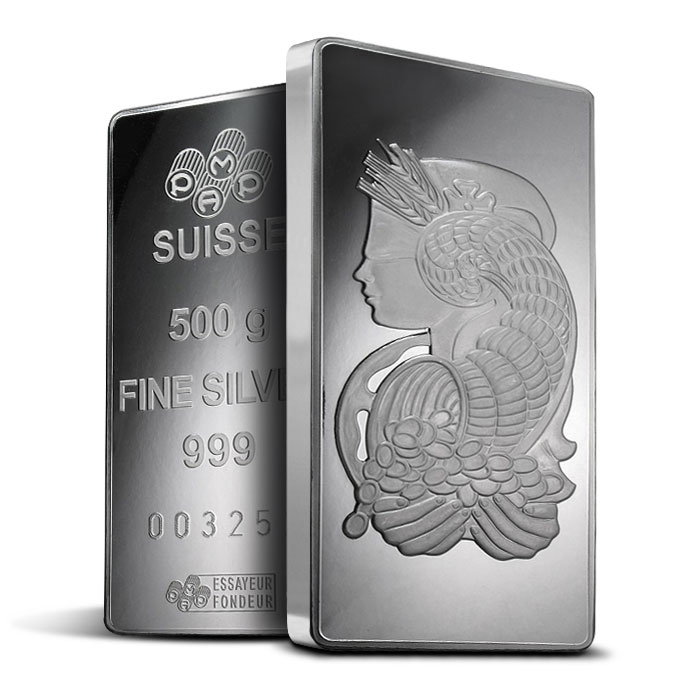 PAMP Suisse 500 gram Silver Fortuna Bar-16057