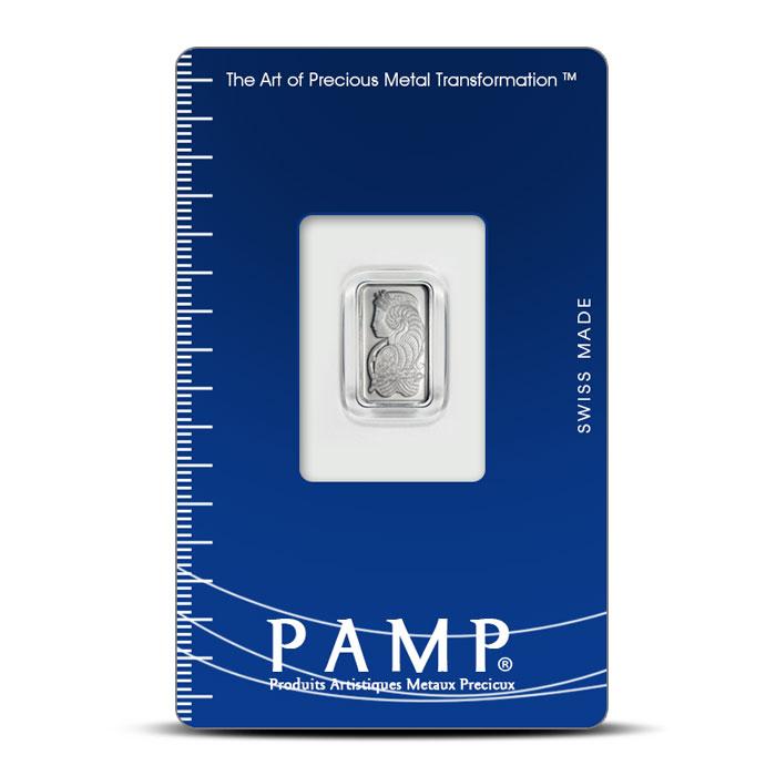 5 gram Platinum Fortuna Bar | PAMP Suisse