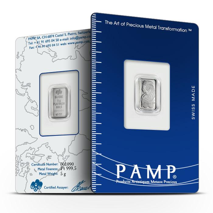 PAMP Suisse 5 gram Platinum Fortuna Bar