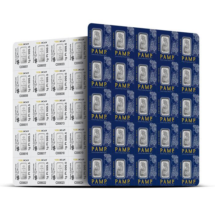 PAMP Suisse 25X 1 gram Platinum Bar Multigram