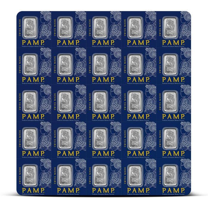 PAMP Suisse 25X 1 gram Platinum Bar   Multigram+25