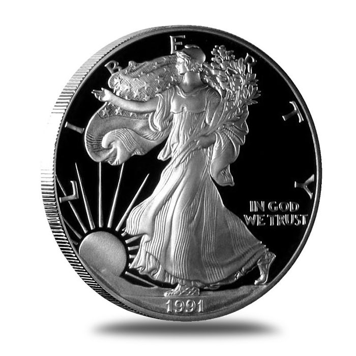 1991 Proof American Silver Eagle | Obverse