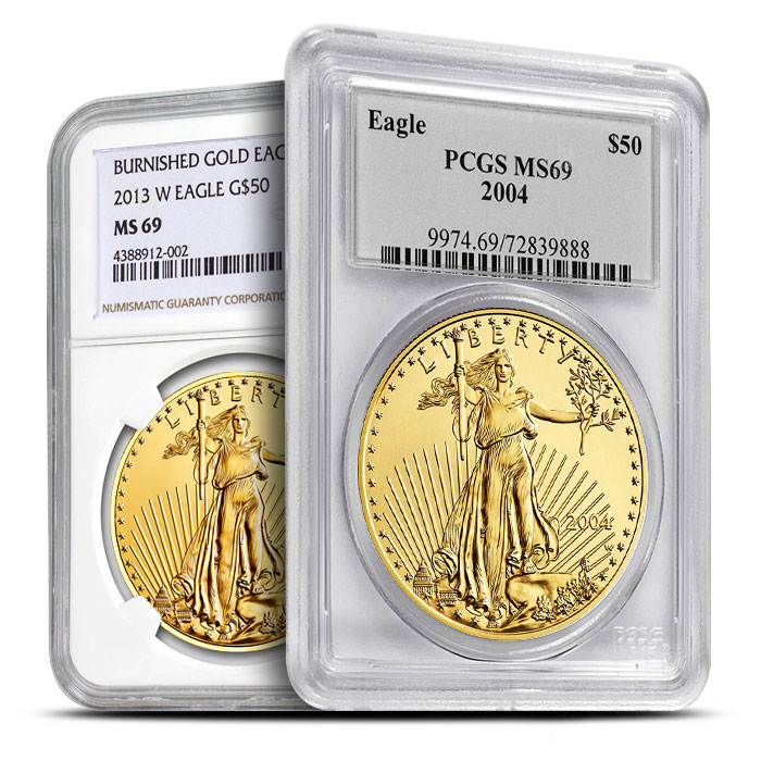 MS69 PCGS or NGC Certified Gold Eagle - Dates of Our Choice