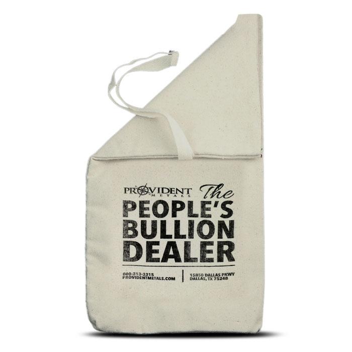 Provident Metals $500 Face Cloth Bag | 9 x 17 1/2