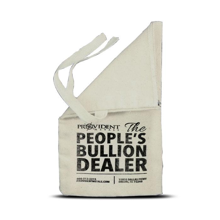 Provident Metals $250 Face Cloth Bag