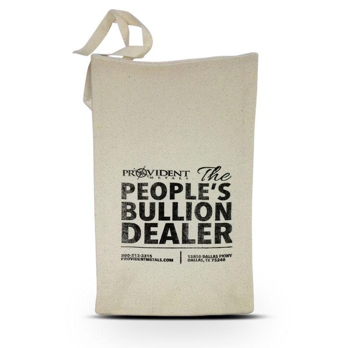 Provident Metals $500 Face Cloth Bag