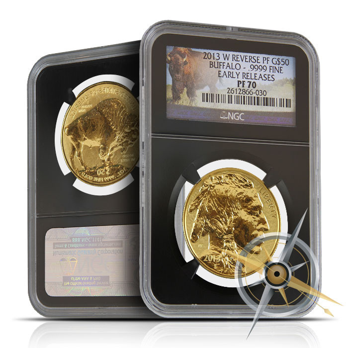 2013 W Reverse Proof Gold Buffalo NGC MS70 Early Release