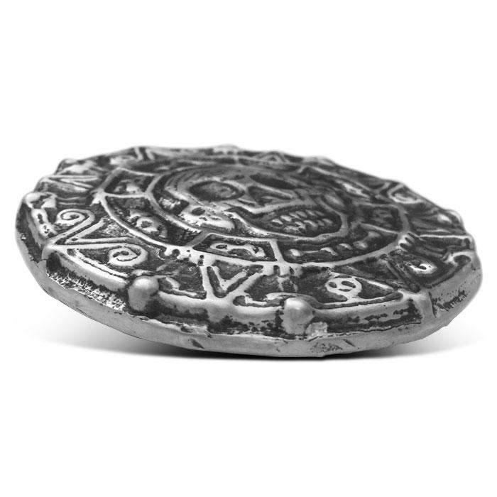 MK BarZ Poured Silver 7 oz Pirate Round