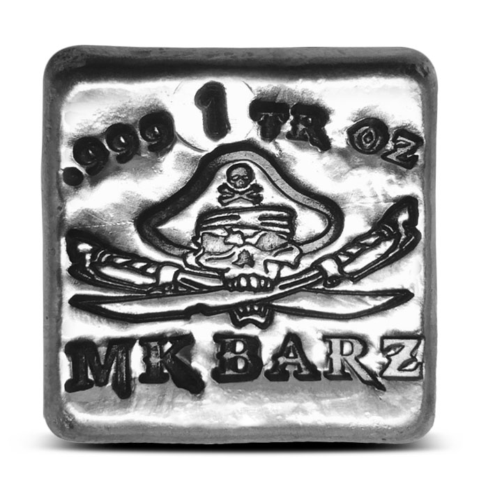 Pirate Captain Poured Silver Bar