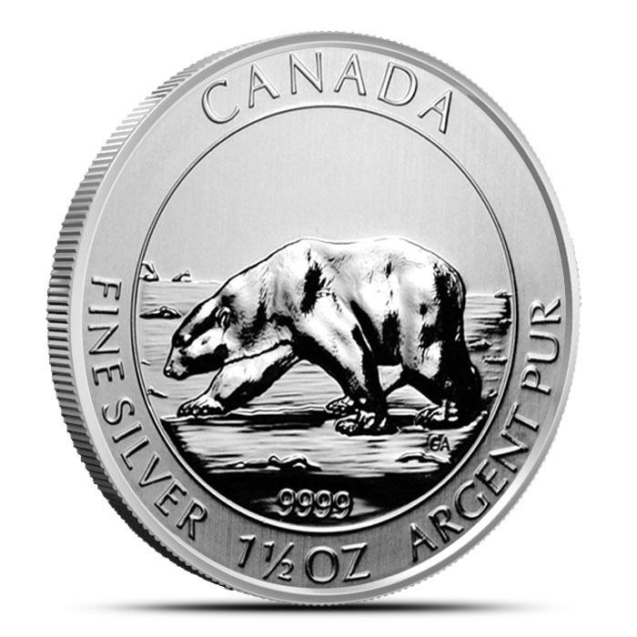 2013 1.5 Ounce Silver Canadian Polar Bear Coin