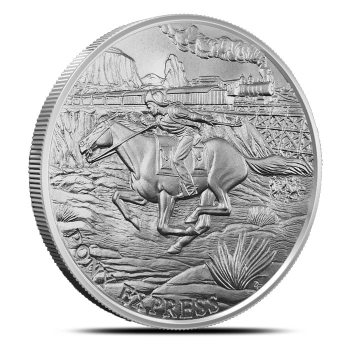 Pony Express Silver Round | Buy 19, Get the 20th Free-21277