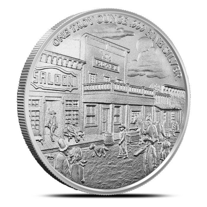 Pony Express 1 oz Silver Round Reverse