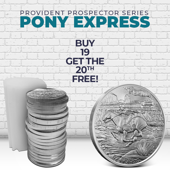 Pony Express Silver Round | Buy 19, Get the 20th Free