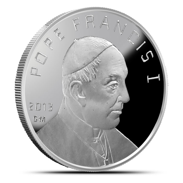 Pope Francis I 1 ounce Silver Round Obverse