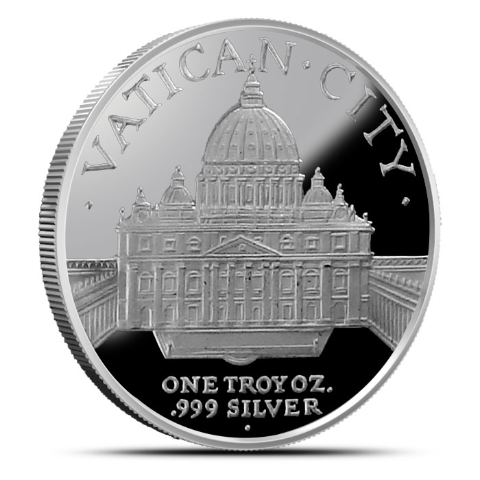 Pope Francis I 1 oz Silver Round Reverse
