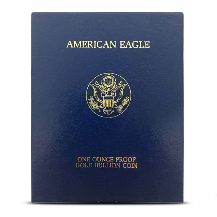 1 oz Proof Gold Eagle Blue Box