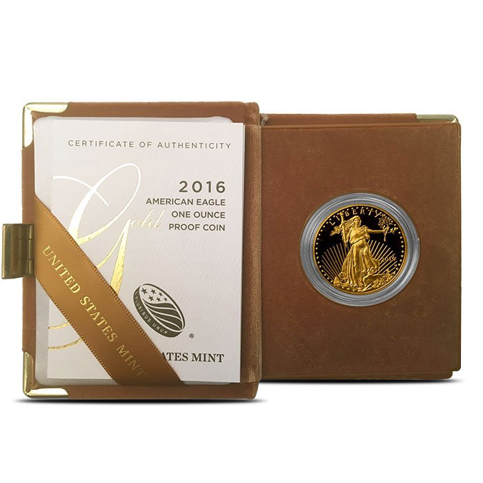 1 oz Proof Gold Eagle Brown Box