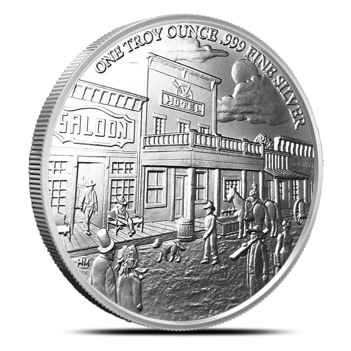 Provident Prospector 1 oz Silver Round Highland Mint Reverse