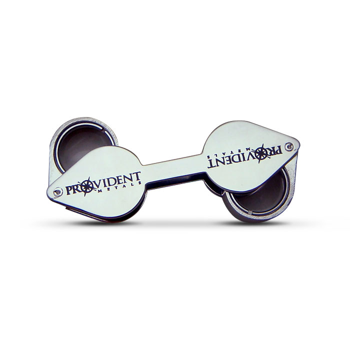 Provident Metals Dual Triplet Lens 10x & 20x Loupe front closed view