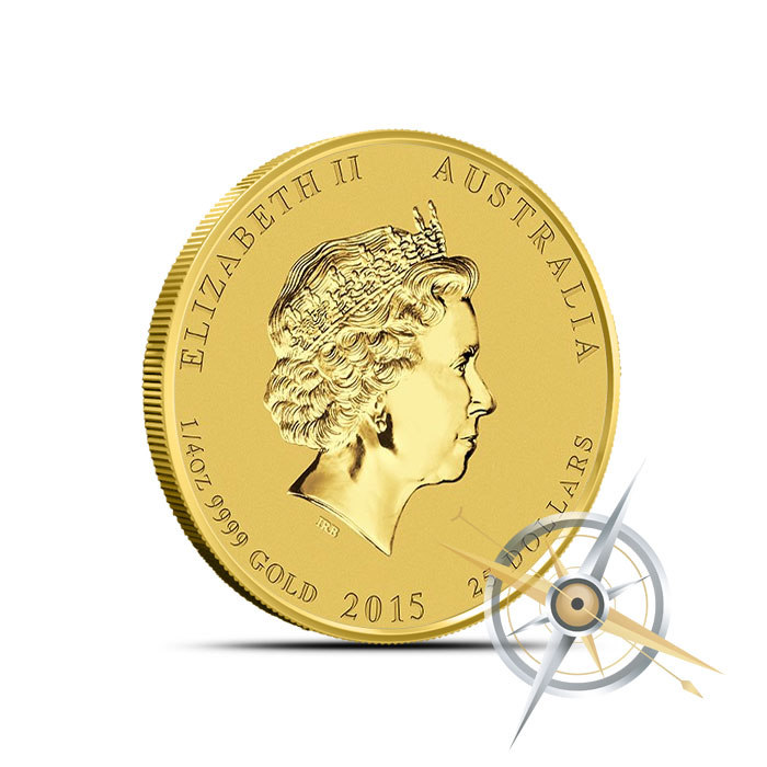 2015 1/4 oz Gold Year of the Goat | Lunar Series II Reverse