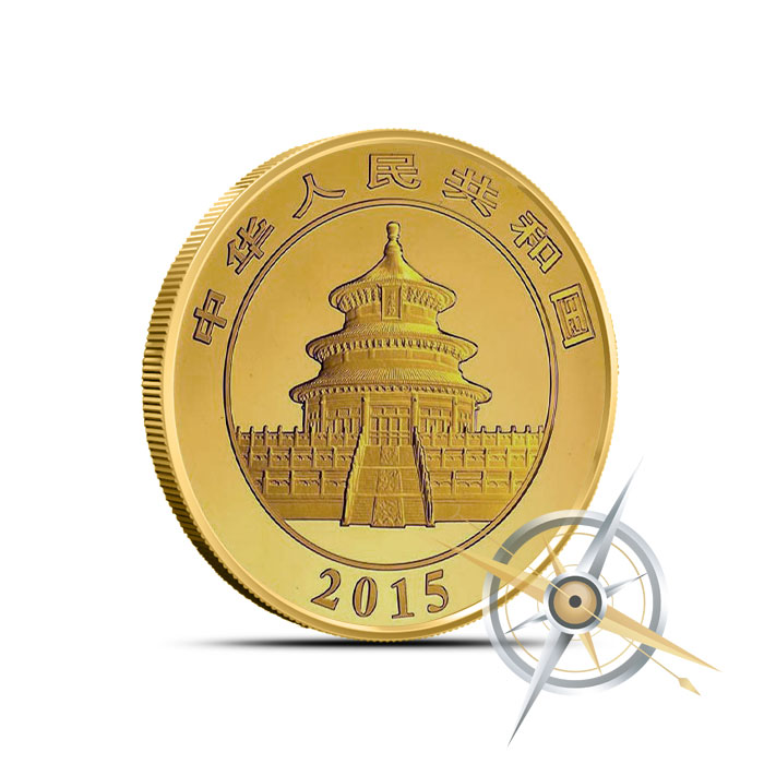 2015 1/4 oz Chinese Gold Panda Reverse