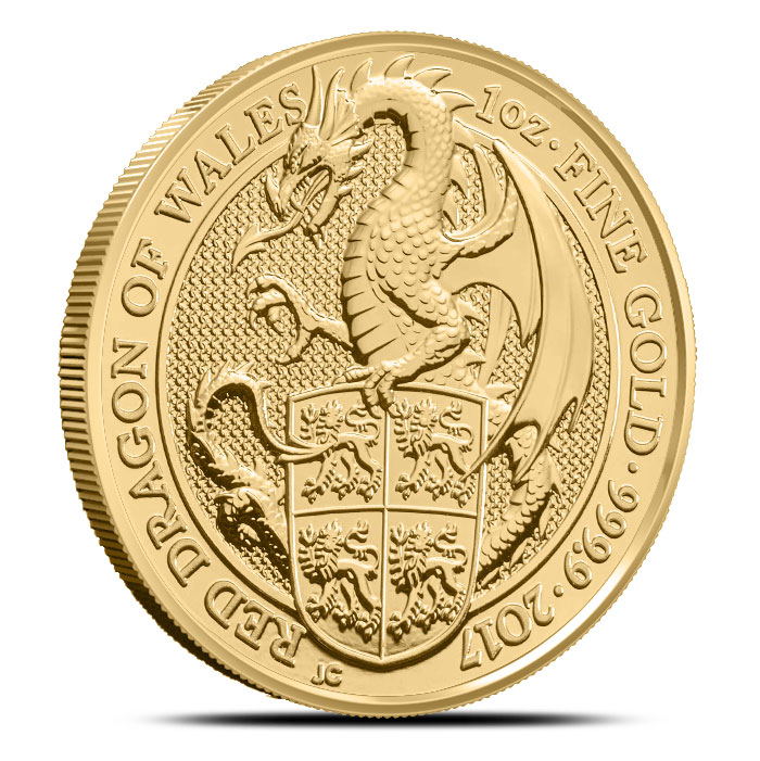 Red Dragon of Whales Gold Coin
