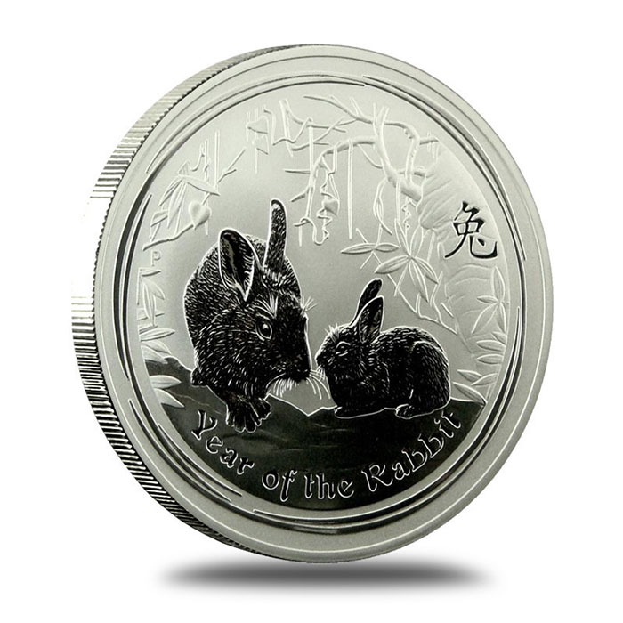 2011 Perth Mint Year of the Rabbit 1 oz Silver Coin Reverse