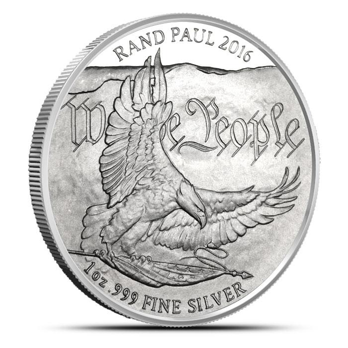 Rand Paul 1 oz Silver Bullion Round Reverse