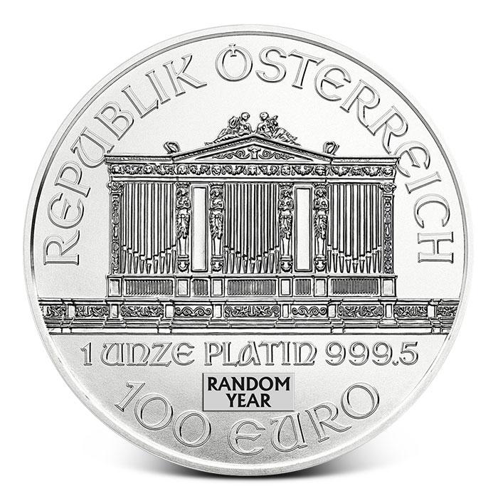 Platinum Philharmonic Coin Reverse