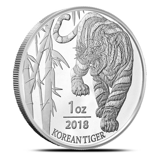 2018 Korean Tiger 1 oz Silver