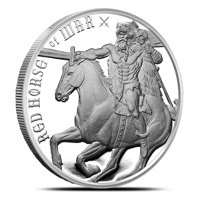 Red Horse of War Silver Round
