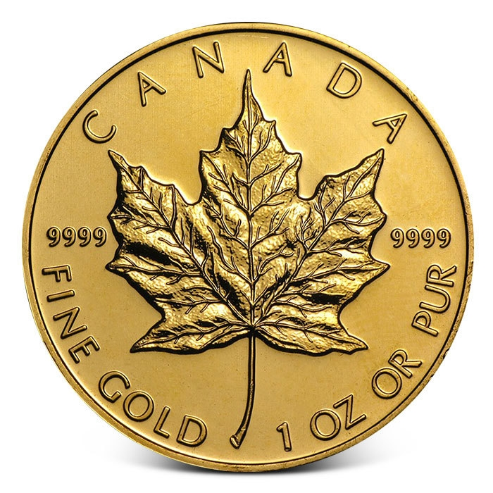 Canadian Maple Leaf 1 Oz Gold Coin In Varied Condition