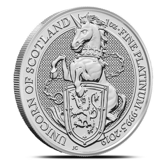 2019 British 1 oz Platinum Queen