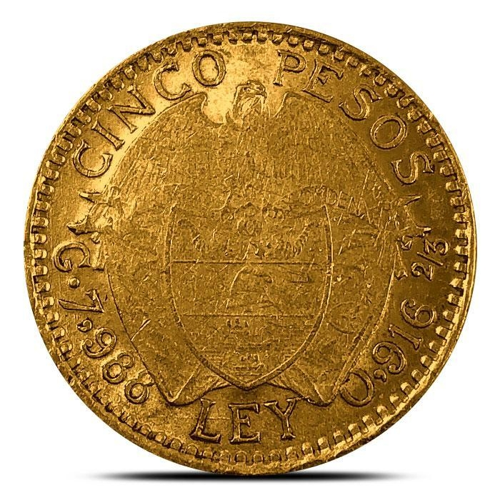 Colombian 5 Peso Gold Coin