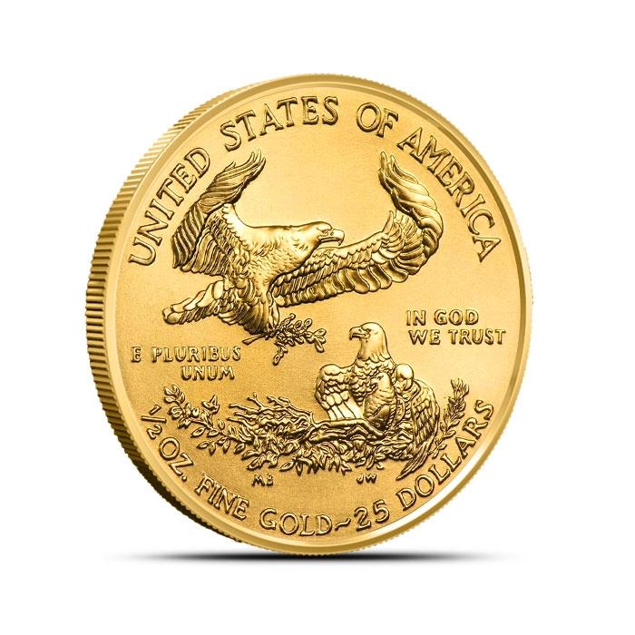 2019 1/2 oz American Gold Eagle Reverse